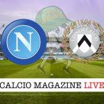 Napoli Udinese diretta risultato tabellino tempo reale