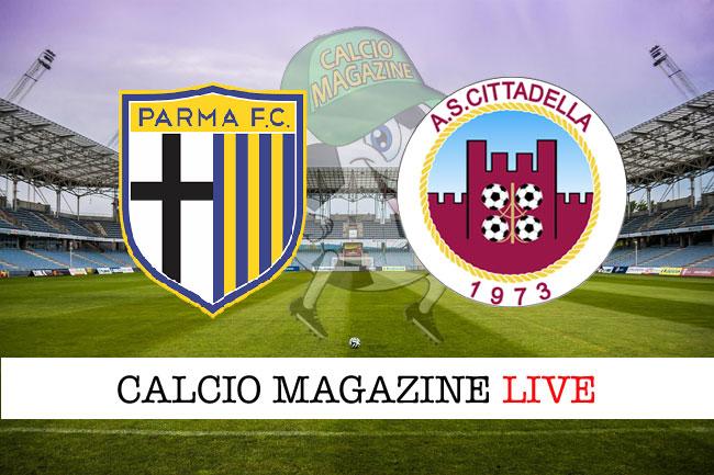 Parma Cittadella cronaca diretta e risultato in tempo reale