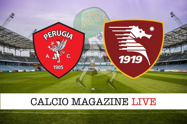 Perugia - Salernitana 1-1, il tabellino