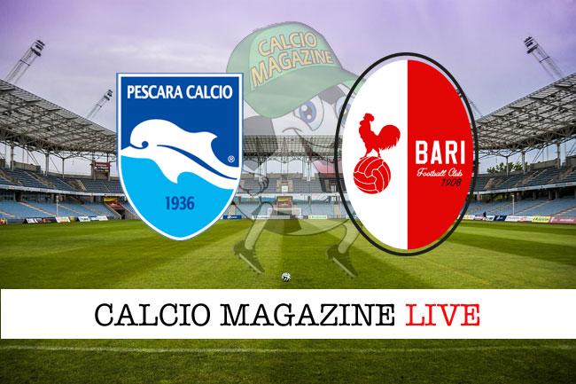 Pescara - Bari 2-2: Pettinari trova il pari in extremis