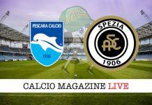 Pescara Spezia cronaca diretta risultato tempo reale