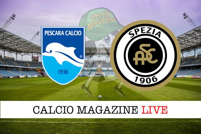 Pescara - Spezia 3-2, il tabellino
