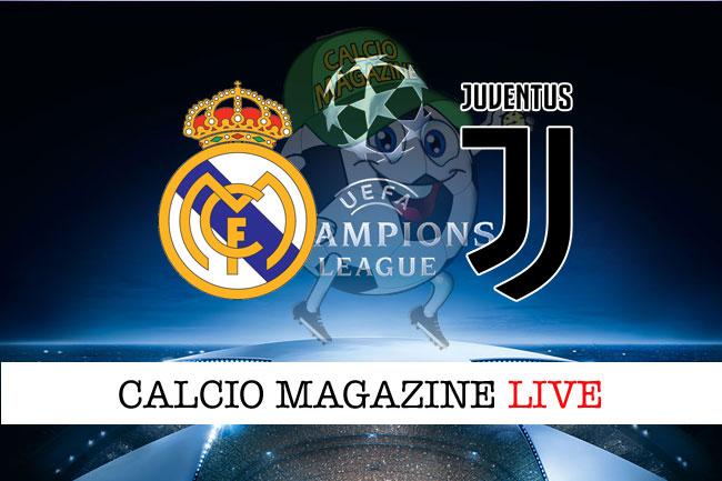 Real Madrid Juventus cronaca diretta risultato in tempo reale