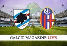 Sampdoria Bologna cronaca diretta live risultato tabellino in tempo reale