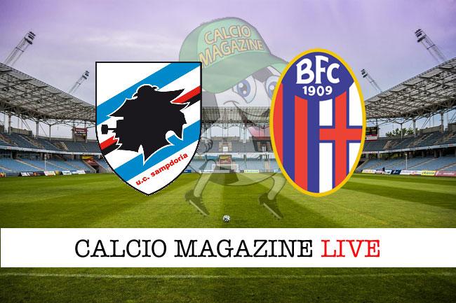 Sampdoria Bologna diretta risultato tabellino tempo reale