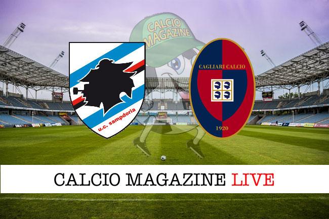 Sampdoria - Cagliari, le formazioni ufficiali del match