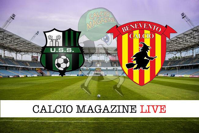 Sassuolo Benevento diretta tabellino risultato tempo reale
