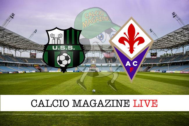 Sassuolo Fiorentina cronaca diretta risultato tempo reale
