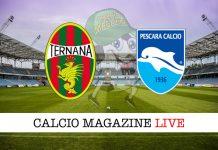 Ternana Pescara cronaca diretta risultato tempo reale
