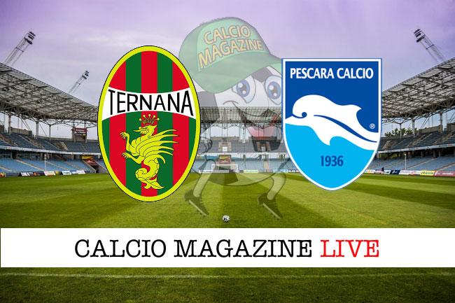 Ternana - Pescara, le formazioni ufficiali