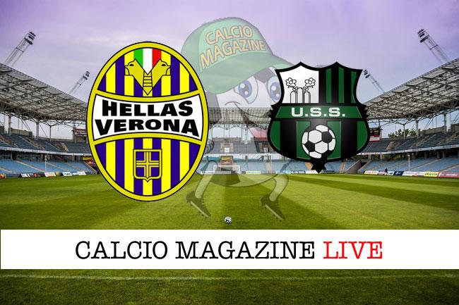 Verona Sassuolo diretta risultato tabellino tempo reale