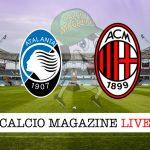 Atalanta Milan cronaca diretta risultato tempo reale