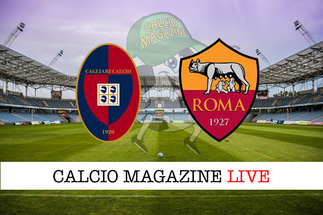 Cagliari - Roma 2-2: pareggio dei sardi, in nove, all'ultimo minuto