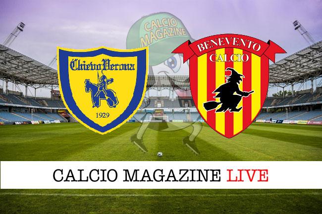 Chievo Benevento diretta risultato tabellino tempo reale