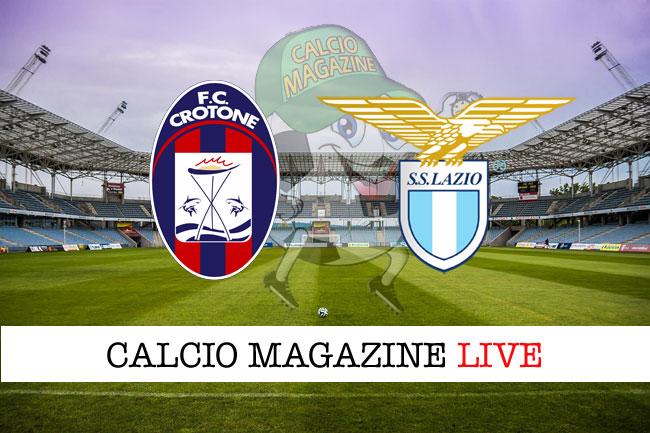 Crotone - Lazio: le formazioni ufficiali della partita
