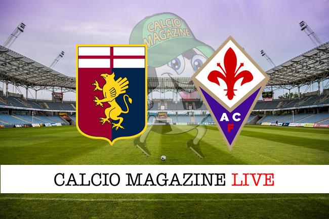 Genoa Fiorentina diretta risultato tabellino tempo reale