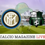 Inter Sassuolo cronaca diretta risultato tempo reale