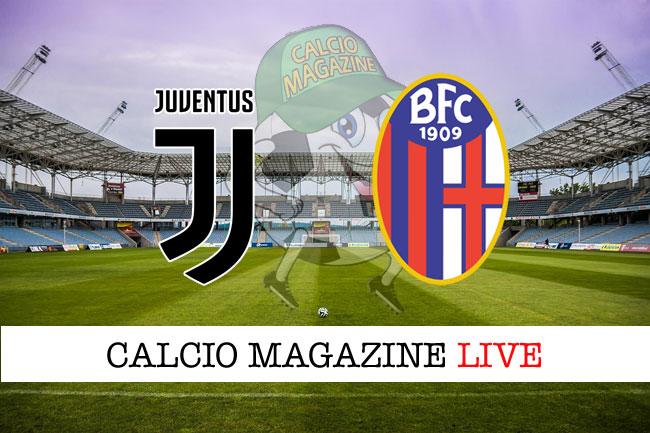 Juventus Bologna cronaca diretta risultato tempo reale