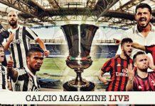 Juventus Milan finale Coppa Italia 2017 - 2018 cronaca diretta risultato tempo reale