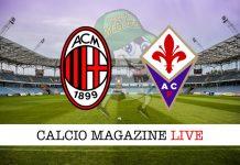 Milan Fiorentina diretta risultato tabellino tempo reale