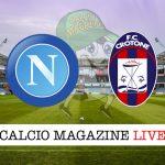 Napoli Crotone diretta risultato tabellino tempo reale