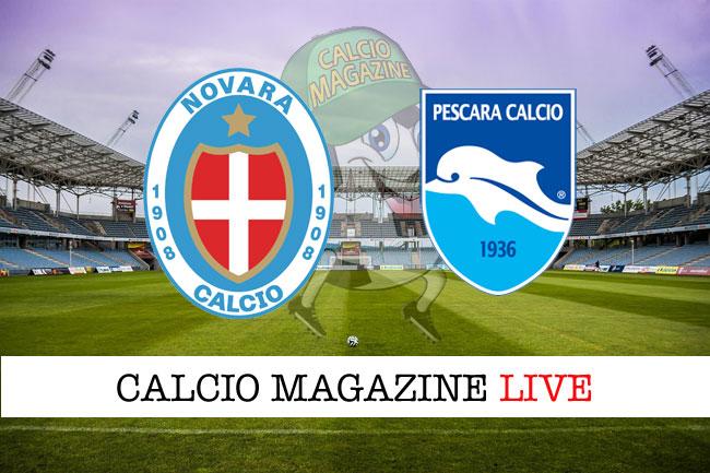 Novara - Pescara 1-1: Valzania risponde a Moscati