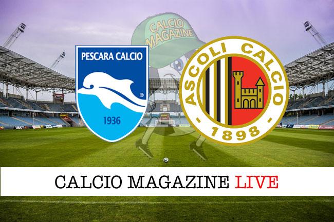 Serie B, Pescara - Ascoli 0-1: il tabellino della partita