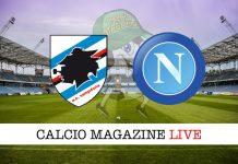 cronaca Sampdoria Napoli diretta risultato tempo reale