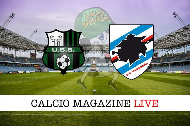 Sassuolo Sampdoria cronaca diretta live risultato tempo reale