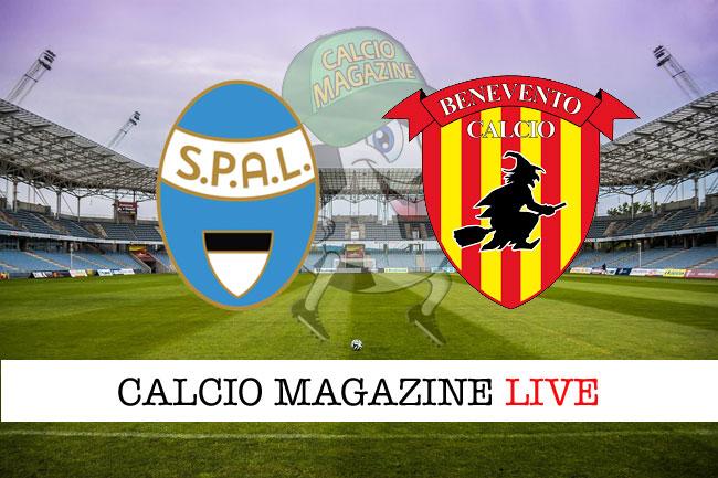 Spal - Benevento 2-0: Paloschi - Antenucci, salvezza più vicina