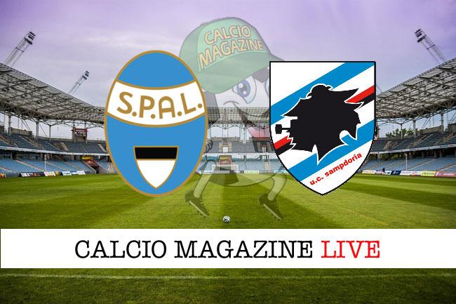 Spal Sampdoria diretta risultato tabellino tempo reale