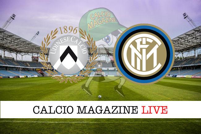 Udinese Inter cronaca diretta risultato tempo reale