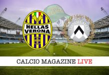Hellas Verona Udinese cronaca diretta risultato tabellino tempo reale