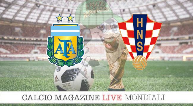 Argentina Croazia cronaca diretta risultato in tempo reale