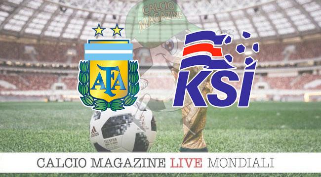 Argentina Islanda cronaca diretta risultato in tempo reale