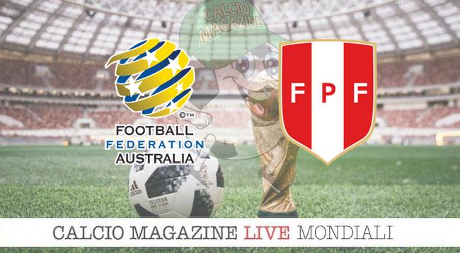 Australia - Perù 0-2, il tabellino. Reti di Carrillo e Guerrero