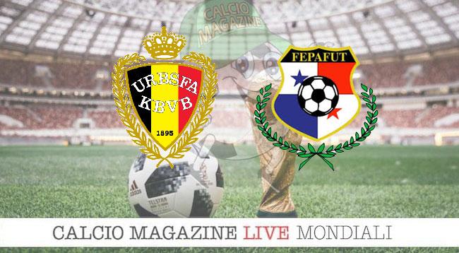 Belgio Panama cronaca diretta risultato in tempo reale
