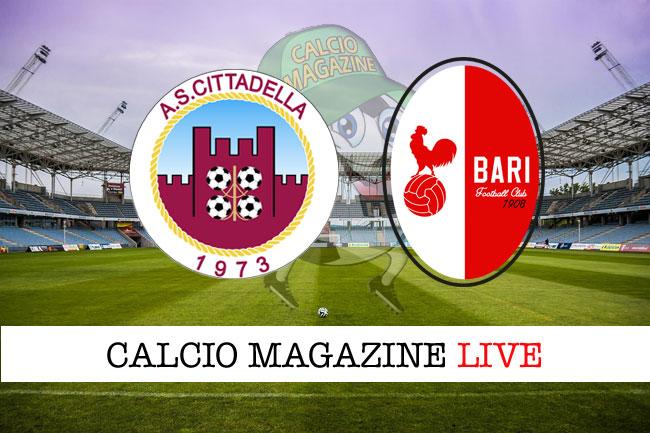 Cittadella Bari cronaca diretta risultato tempo reale