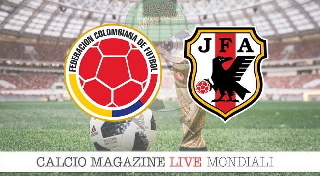 Colombia Giappone cronaca diretta risultato in tempo reale