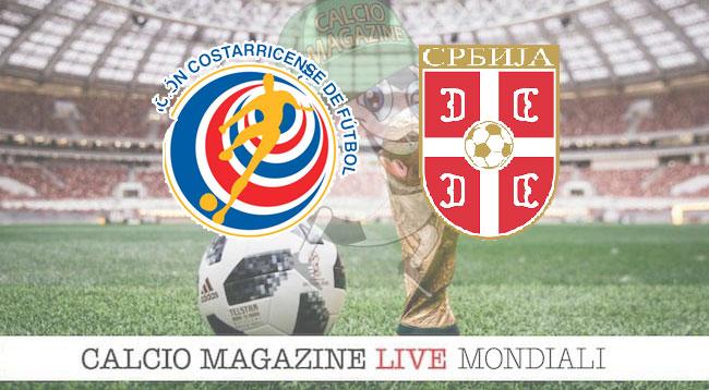 Costa Rica Serbia cronaca diretta risultato in tempo reale