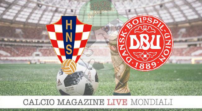 Croazia Danimarca cronaca diretta risultato in tempo reale