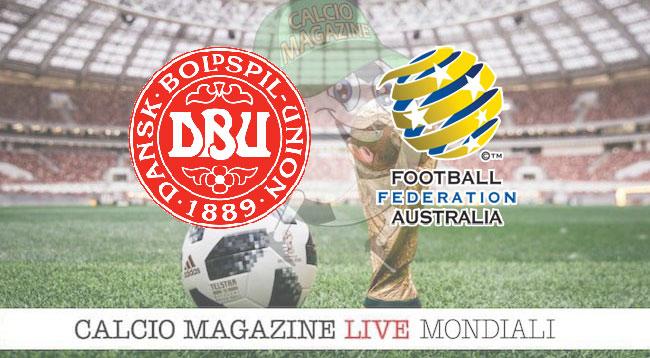 Danimarca - Australia 1-1, il tabellino