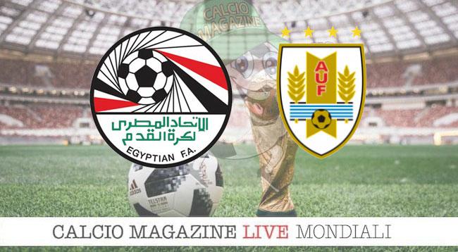 Egitto Uruguay cronaca diretta risultato in tempo reale