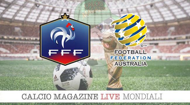 Francia Australia cronaca diretta risultato in tempo reale