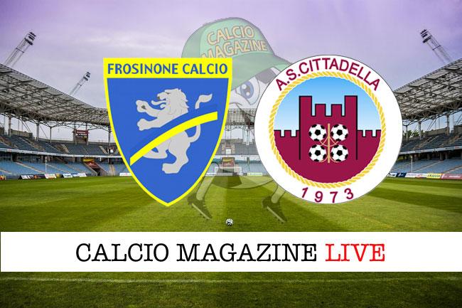 Frosinone - Cittadella 1-1, il tabellino della sfida playoff