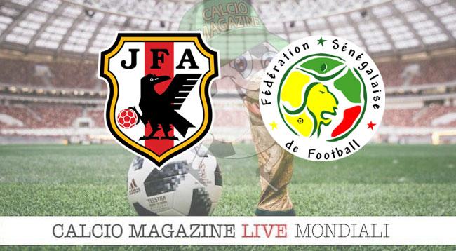 Giappone Senegal cronaca diretta risultato in tempo reale