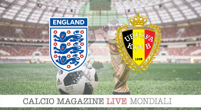 Inghilterra Belgio cronaca diretta risultato in tempo reale