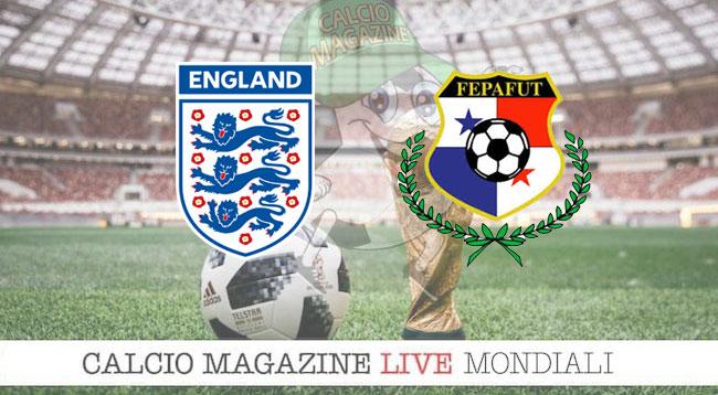 Inghilterra Panama cronaca diretta risultato in tempo reale