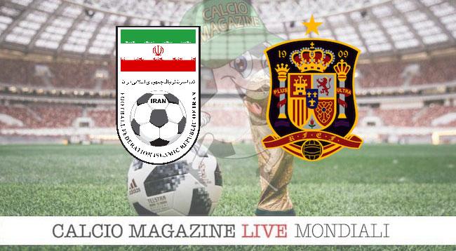 Iran - Spagna 0-1, il tabellino della partita