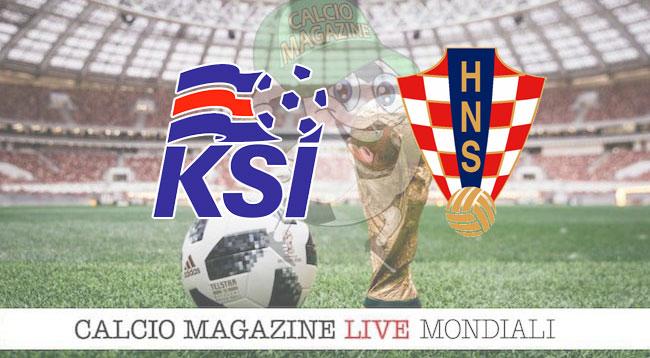 Islanda Croazia cronaca diretta risultato in tempo reale